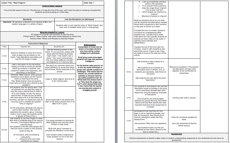 lesson plan in teaching A variety of k-12 lesson plans and worksheets reviewed by teachers for teachers educational lesson plans and worksheets organized by grade and subject engage, share & save time.